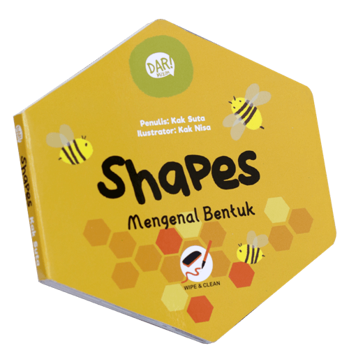 BBW : SHAPE MENGENAL BENTUK (BOARDBOOK) - WIPE & CLEAN